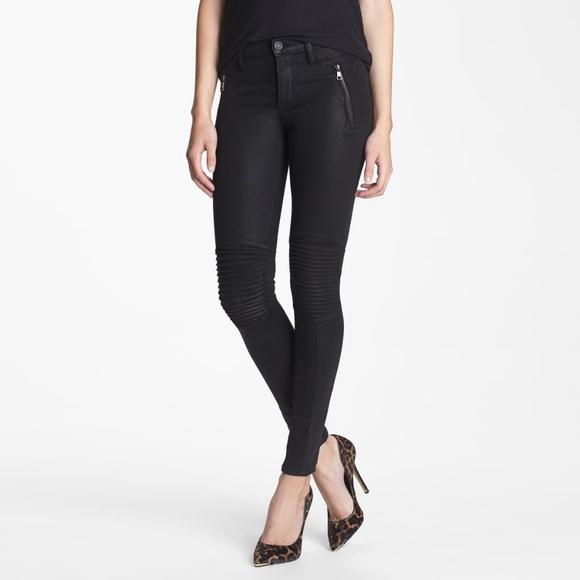 Hudson Jeans Denim - Hudson Stark Moto Skinny Coated Jeans